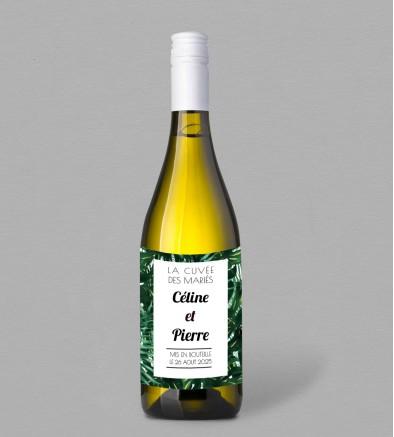 Etiquette bouteille de vin exotique Jungle