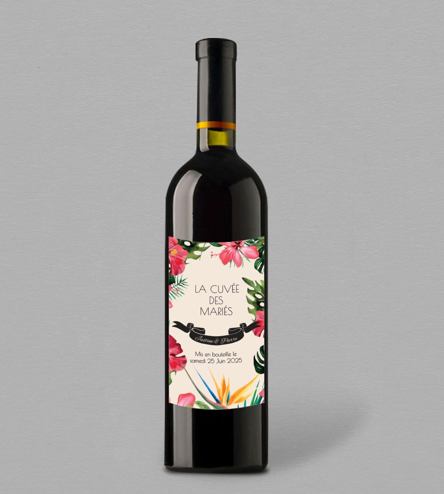 etiquette bouteille de vin mandala une collection fleurie. Black Bedroom Furniture Sets. Home Design Ideas