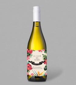 Etiquette bouteille de vin exotique Mandala