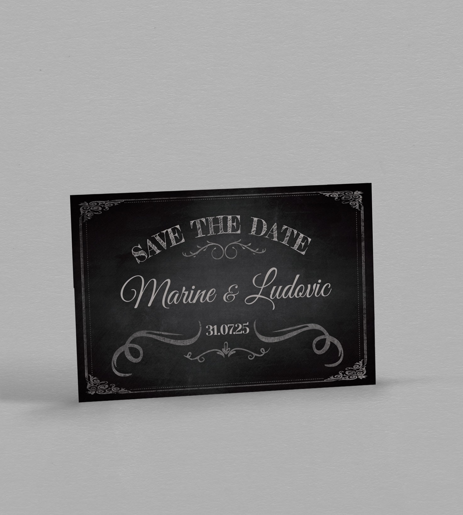 Save the date vintage Clapper