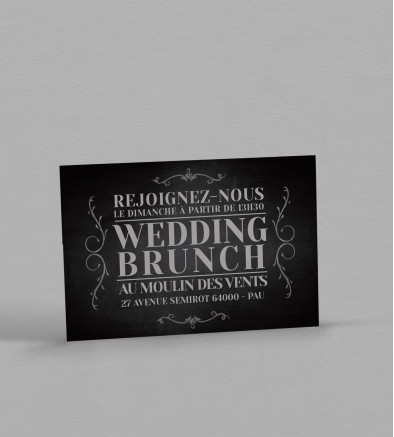 Wedding Brunch vintage Clapper