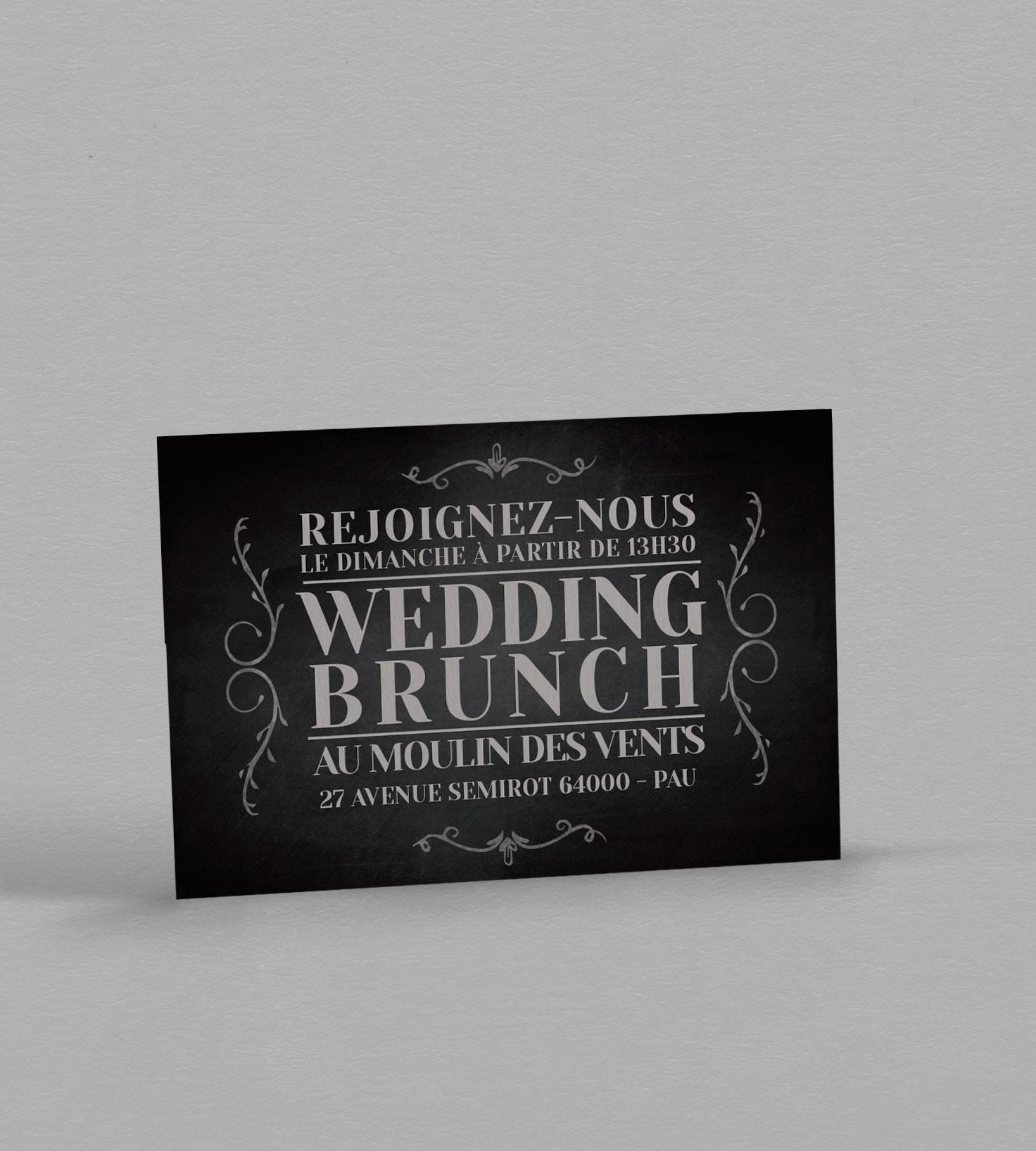 Wedding Brunch vintage Clapper