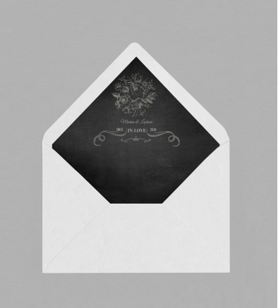 Intérieur enveloppe vintage Clapper