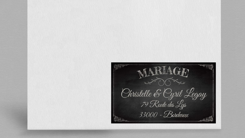 Etiquette enveloppe vintage Clapper