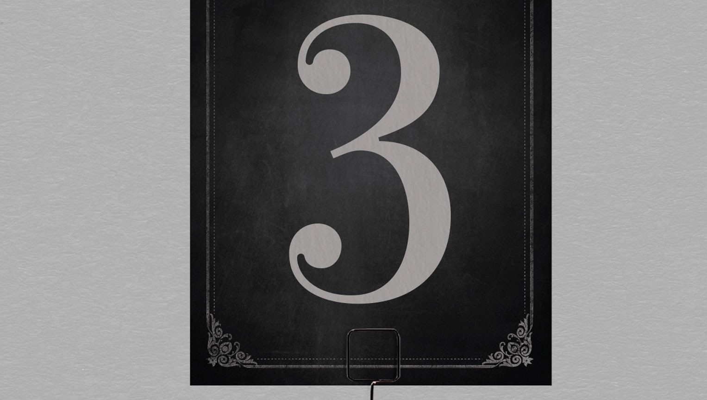 Numéro de table vintage Clapper