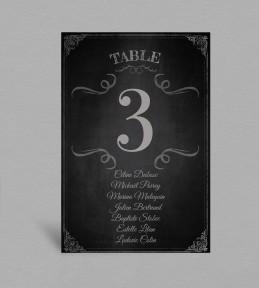 Plan de table vintage Clapper