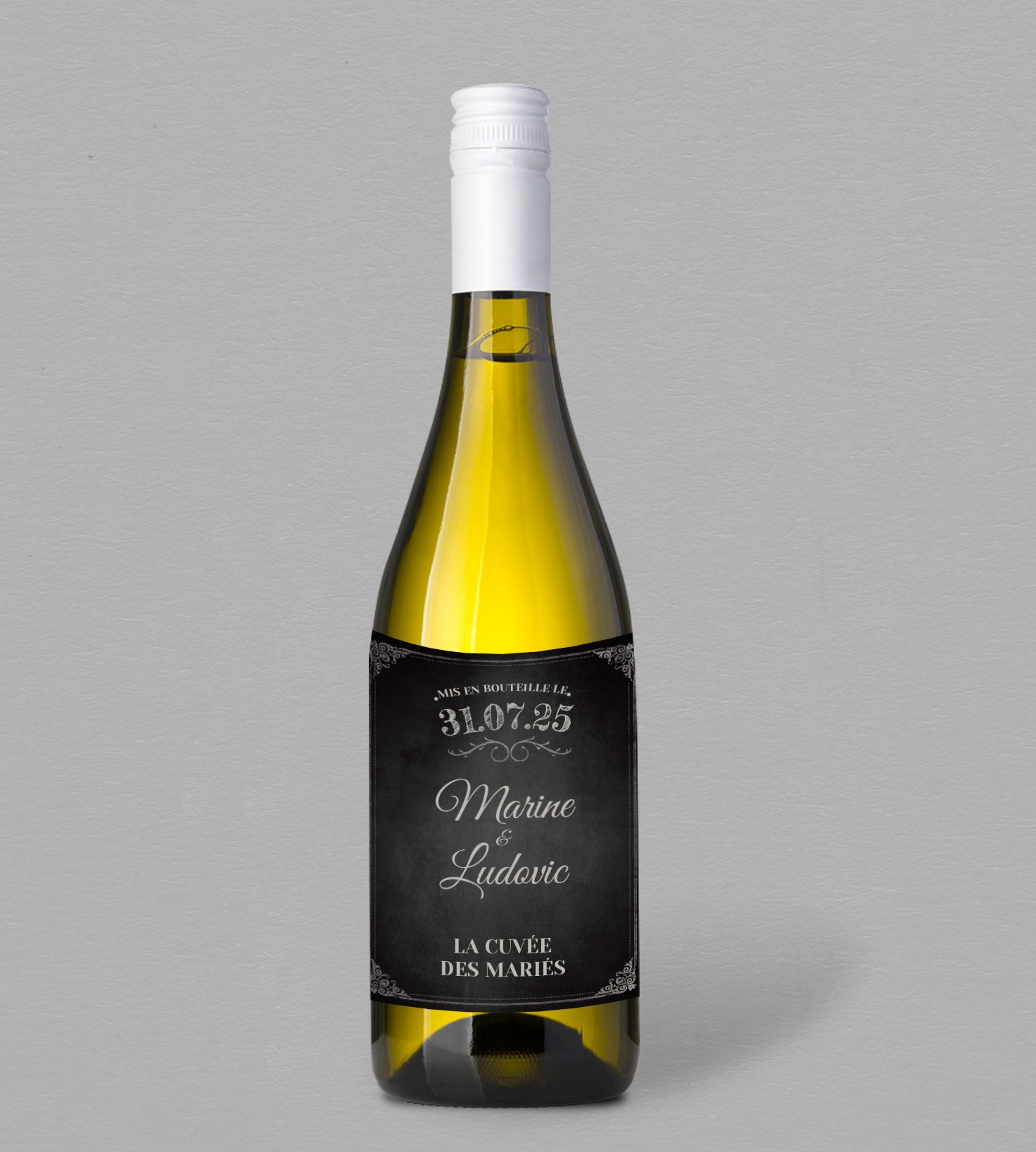 Etiquette bouteille de vin vintage Clapper