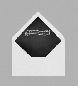 Intérieur enveloppe vintage Blake
