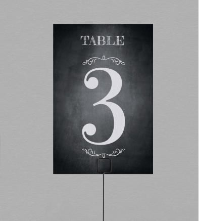 Numéro de table vintage Blake