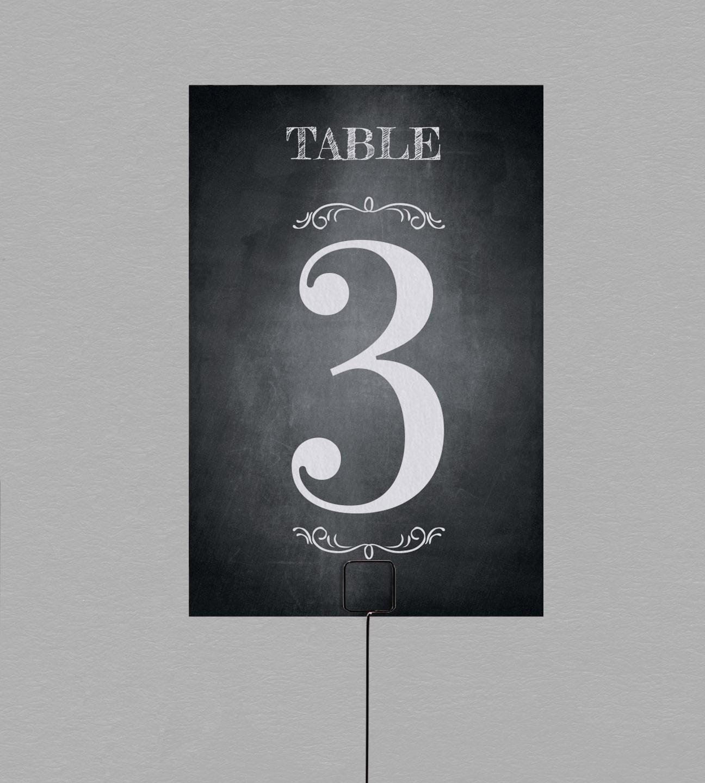 Numéro de table vintage Blake, look rétro pour vos table de mariage
