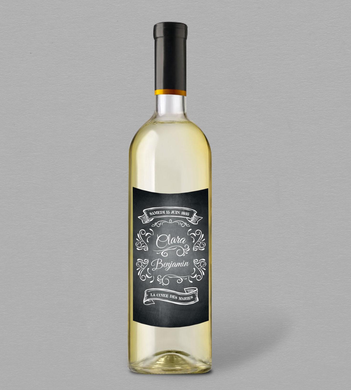 etiquette bouteille de vin pour mariage vintage. Black Bedroom Furniture Sets. Home Design Ideas