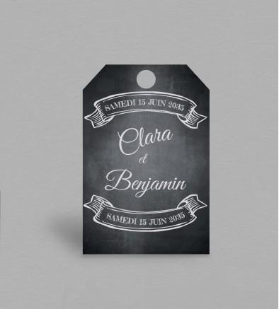 Etiquette boite à cadeaux vintage Blake