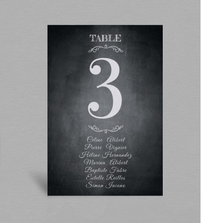 Plan de table vintage Blake