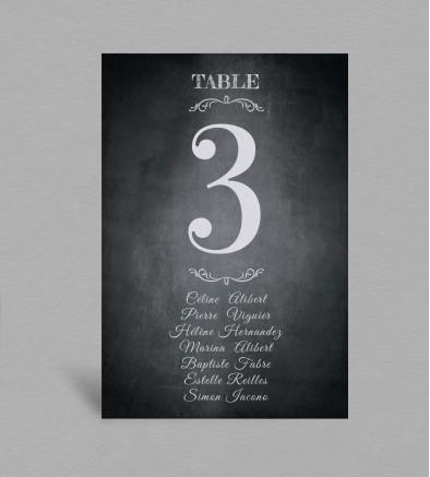Plan de table vintage Blake