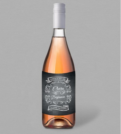 Etiquette bouteille de vin vintage Blake