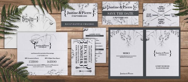 Etiquette enveloppe Botanique Augustine