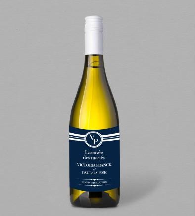 Etiquette bouteille de vin Valéry