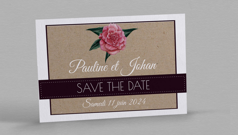 Save the date champêtre Camélia