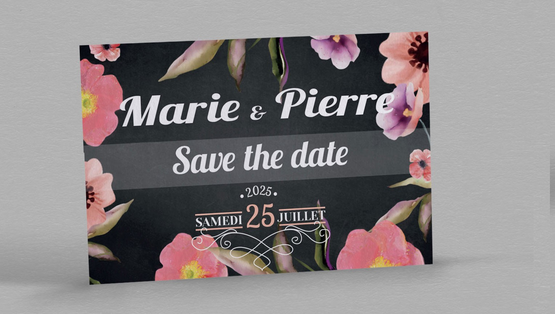 Save the date Champêtre Célestine