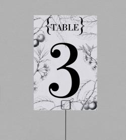 Numéro de table Botanique Augustine