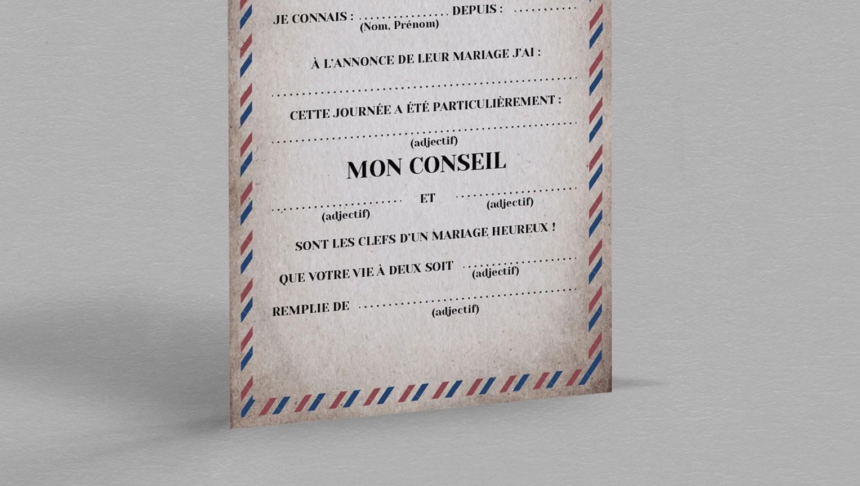 Carte Urne Beckett Pour Une D Coration De Mariage Vintage
