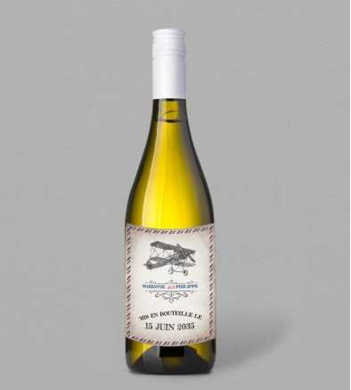 Etiquette bouteille de vin Beckett