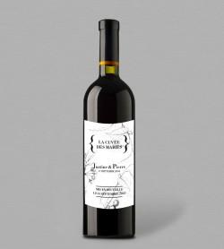 Etiquette bouteille de vin Botanique Augustine