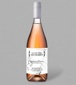 Etiquette bouteille de vin Augustine