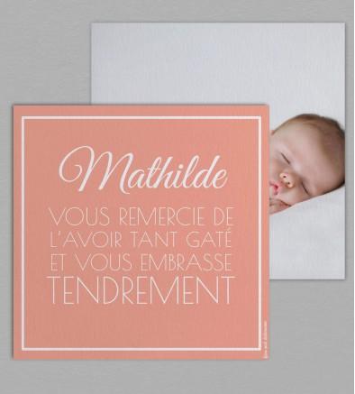 Remerciement naissance Montgolfière