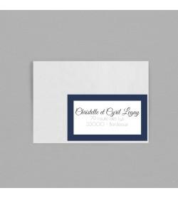 Etiquette Enveloppe