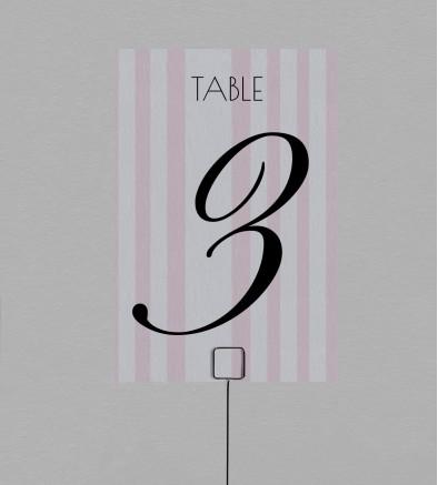 Numéro de table champêtre Philomène