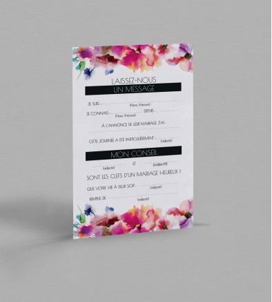Carte urne champêtre Liya