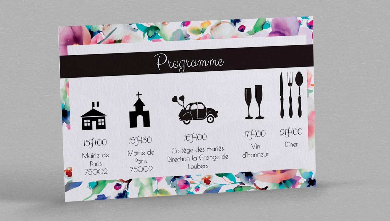 Plus adapté Programme de mariage champetre Liya, idéal pour une bonne organisation NT-46