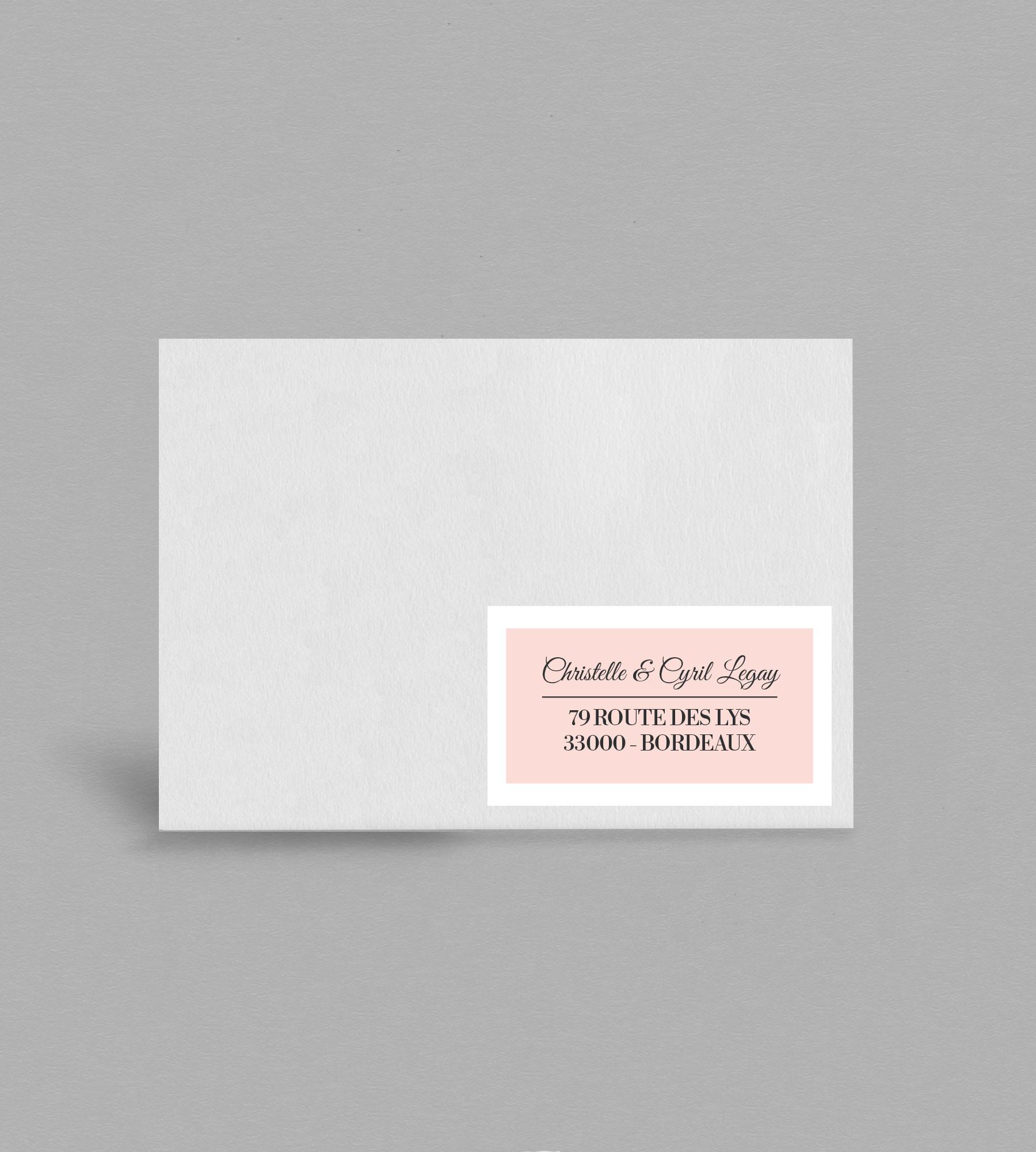 Etiquette enveloppe champêtre Enola