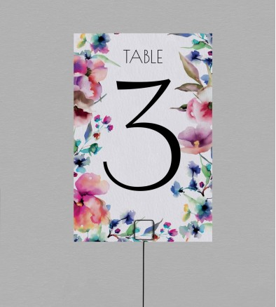 Numéro de table champêtre Liya