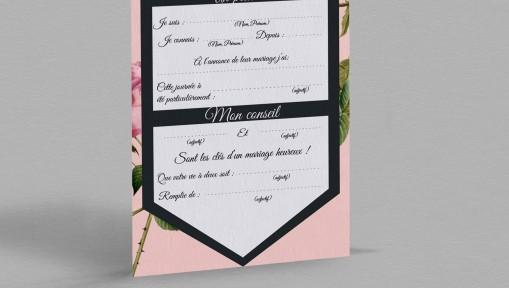 Carte urne champêtre Enola
