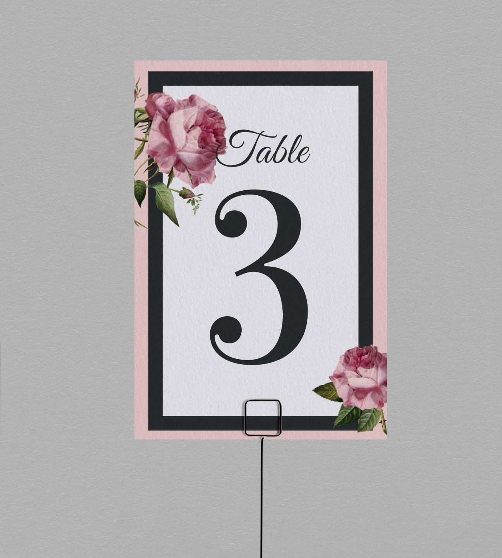 Numéro de table champêtre Enola