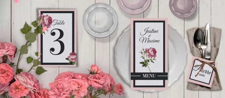 Plan de table champêtre Enola