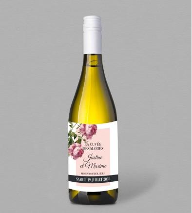 Etiquette bouteille de vin Champêtre Enola