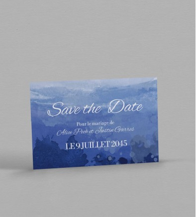 Save the date Champêtre Infinity Blue