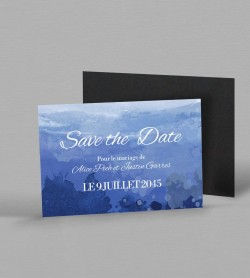 Save the date magnet Infinity Blue
