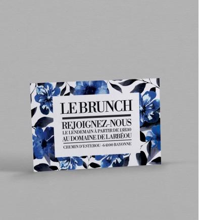 Wedding brunch champêtre Infinity Blue