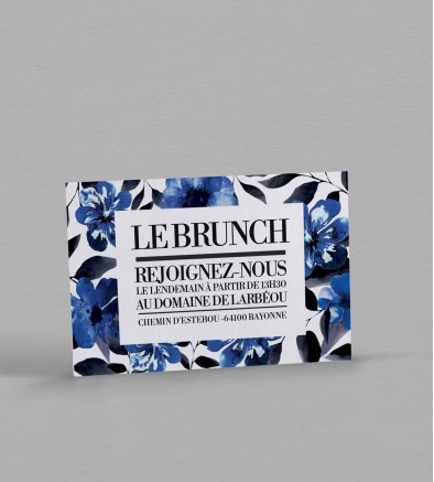 Wedding brunch champêtre Infinity Blue
