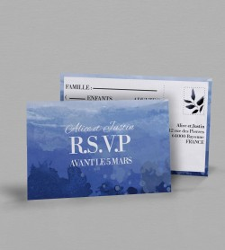 Carton réponse champêtre Infinity Blue