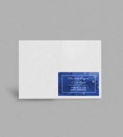 Etiquette enveloppe Infinity Blue