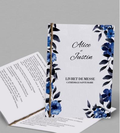 Livret de messe champêtre Infinity Blue