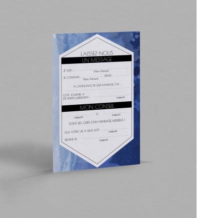 Carte urne Infinity Blue