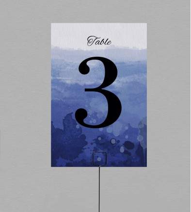 Numéro de table Infinity Blue