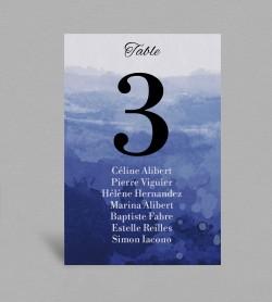 Plan de table Infinity Blue