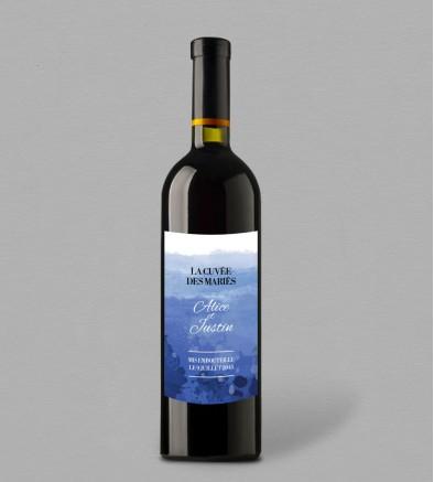Etiquette bouteille de vin Infinity Blue